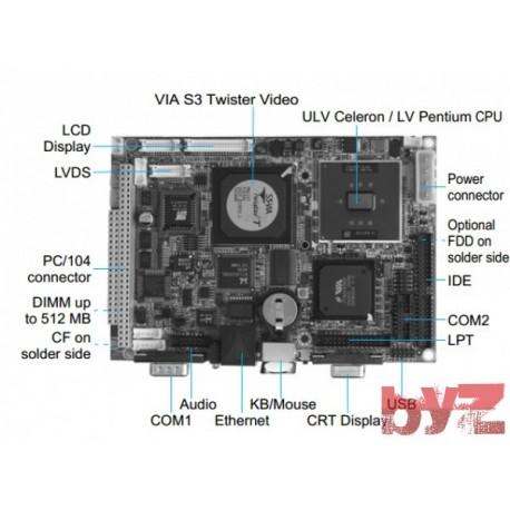 """CPU Boards-ULV Celeron 3.5"""" SBC W/ 400 MHz CPU,VGA/LCD, LVDS"""
