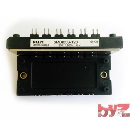 Modül 6PACK 25A, 1200V NPT - 6MBI25S-120