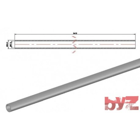 COOLING PIPE SOFF. R.R. 60,3x1,5x3410 AISI 310S WITHOUT HOLE Paslanmaz Soğutma Borusu