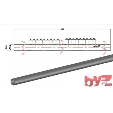 COOLING PIPE SOFF. R.R. 60,3*1,5*3050 AISI 310S WITH HOLE Paslanmaz Soğutma Borusu