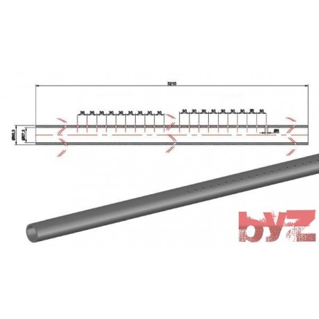 COOLING PIPE SOFF. R.R. 60,3*1,5*3210 AISI 310S WITH HOLE Paslanmaz Soğutma Borusu