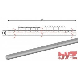 60,3x57,3x3270H - COOLING PIPE SOFF. R.R. 60,3*1,5*3270 AISI 310S WITH HOLE Paslanmaz Soğutma Borusu