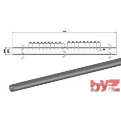 60,3x57,3x3310H - COOLING PIPE SOFF. R.R. 60,3*1,5*3310 AISI 310S WITH HOLE Paslanmaz Soğutma Borusu