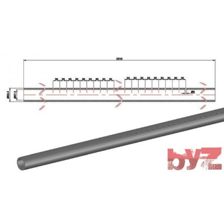 COOLING PIPE SOFF. R.R. 60,3*1,5*3310 AISI 310S WITH HOLE Paslanmaz Soğutma Borusu