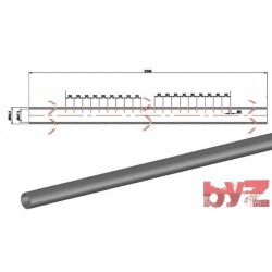 FP-285-D7-0030 - COOLING PIPE SOFF. R.R. 60,3*6,5*3640 SISIC Silisyum Karbür Soğutma Borusu
