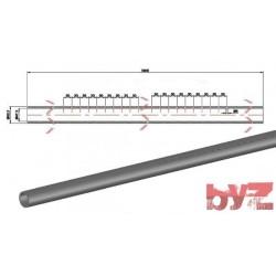 KK-285-D7-0001 - COOLING PIPE SOFF. R.R. 60,3*6,5*3900 SISIC Silisyum Karbür Soğutma Borusu