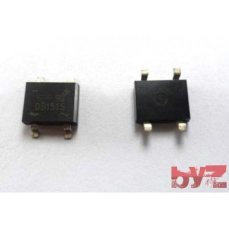 DB151S - Diode Bridge Recti. GP DB-1 1,5A 1000V SMD 4 DB151 kopru diyot