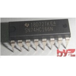 74HC166N - 8-bit parallel-in/serial-out shift register DIP 16 74HC166 74LS166N M74HC166 M74HC166B1R