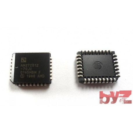AM27C512-70JC - EPROM OTP 512K-Bit 64K x 8 70ns PLCC 32 AM27C512 M27C512 27C512