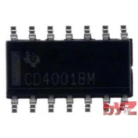CD4001BCM - Gate NOR SOIC 14 CD4001 HEF4001BT HEF4001 HCF4001 SMD