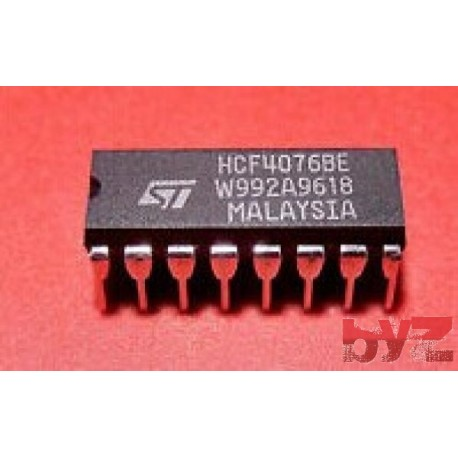 HCF4076BEY - CD4076BE Flip Flop D-Type Bus Interface DIP 16 HCF4076BE HCF4076B HCF4076 CD4076 4076 HEF4076