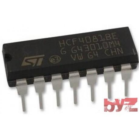HCF4081BEY - CD4081BE AND Gate 4-Ele. 2-IN CMOS DIP 14 HCF4081BE HCF4081B HCF4081 CD4081 4081 HEF4081