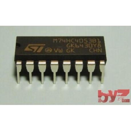 M74HC4053B1R - Analog Multiplexer Triple 2:1 DIP 16 M74HC4053 74HC4053 CD74HC4053 SN74HC4053 74LS4053