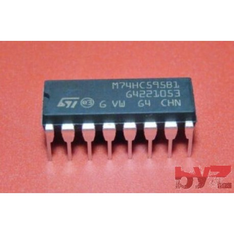 M74HC595B1R - Shift Register DIP 16 M74HC595 74HC595 CD74HC595 SN74HC595 74LS595