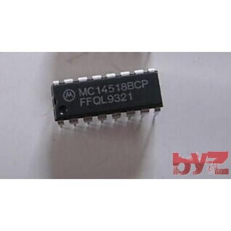 MC14518BCP - CD4518BCN - CD4518BE Counter Dual 4-Bit Decade DIP-16 MC14518B 14518B MC14518 CD4518B CD4518 HEF4518