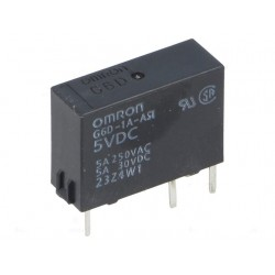 Electromechanical Relay SPST-NO 5A 5VDC 125Ohm Through Hole