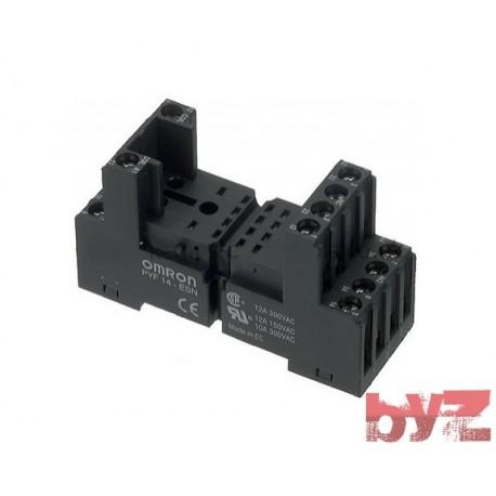 PYF14-ESN-B - Omron Relay Socket - Role soketi MY4 icin Role altligi