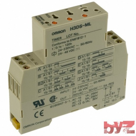 H3DS-ML-24-220VAC - Omron Solid-state Star-delta Timer Zaman Rolesi
