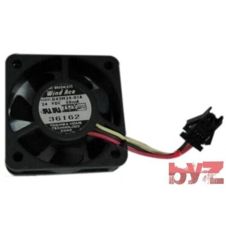 Fan 3-wire with sensor 50mA 24V 40x40x13mm