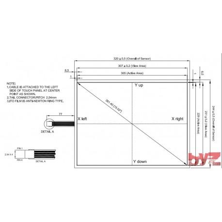 4WR15021B1 - Touch Screen Glass Dokunmatik Ekran Cami