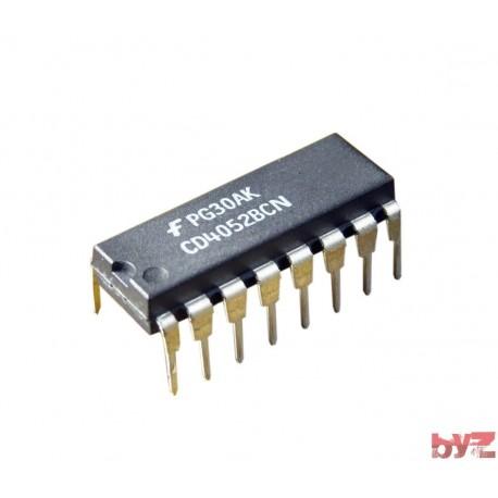 CD4052BCN - Analog Multiplexer Dual 4:1 DIP 16 CD4052 4052 HCF4052 HEF4052