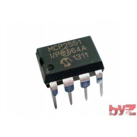 MCP2551-I/P - CAN 1Mbps Sleep/Standby 5V 8-Pin PDIP MCP2551 -I/P MCP 2551 -I/P
