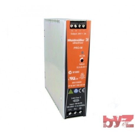 8951330000 - Weidmueller Power supply AC/DC CP M SNT 70W 24V 3A