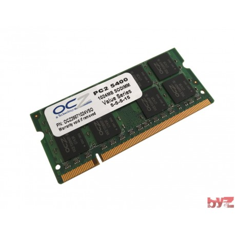 OCZ26671024VS0 - OCZ 1GB PC2-5400 Memory Hafıza