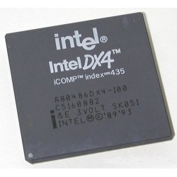 A80486DX4-100 - RISC Microprocessor, 32-Bit, 100MHz, CMOS, CPGA168